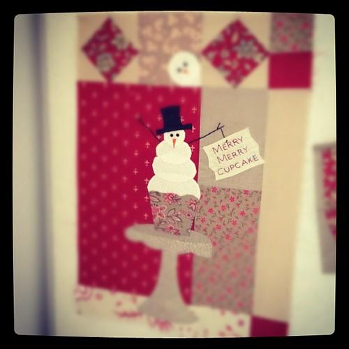 Merry Merry Snowman Block #1