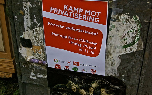 Fight against privatisering!