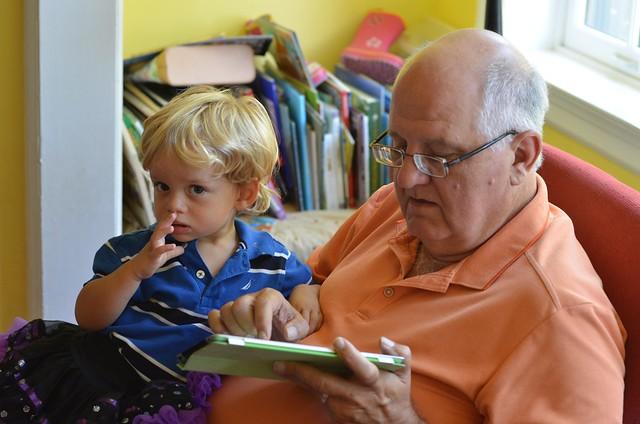 Everett And Grandpa Flickr Photo Sharing