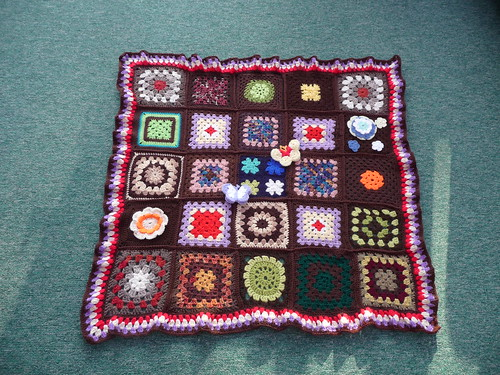 Thanks to everyone who sent in squares for this blanket.