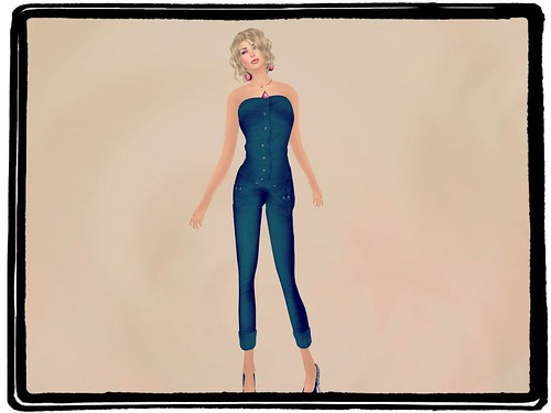Blueberry Mesh Dernim Jumpsuit Black (GROUP GIFT) by Cherokeeh Asteria