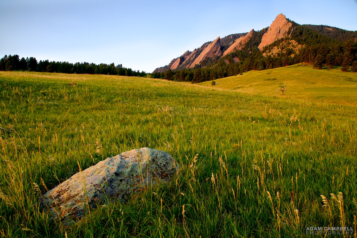 Morning at the Flatirons. by Adam Campbell, on Flickr