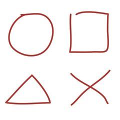 丸四角三角バツ