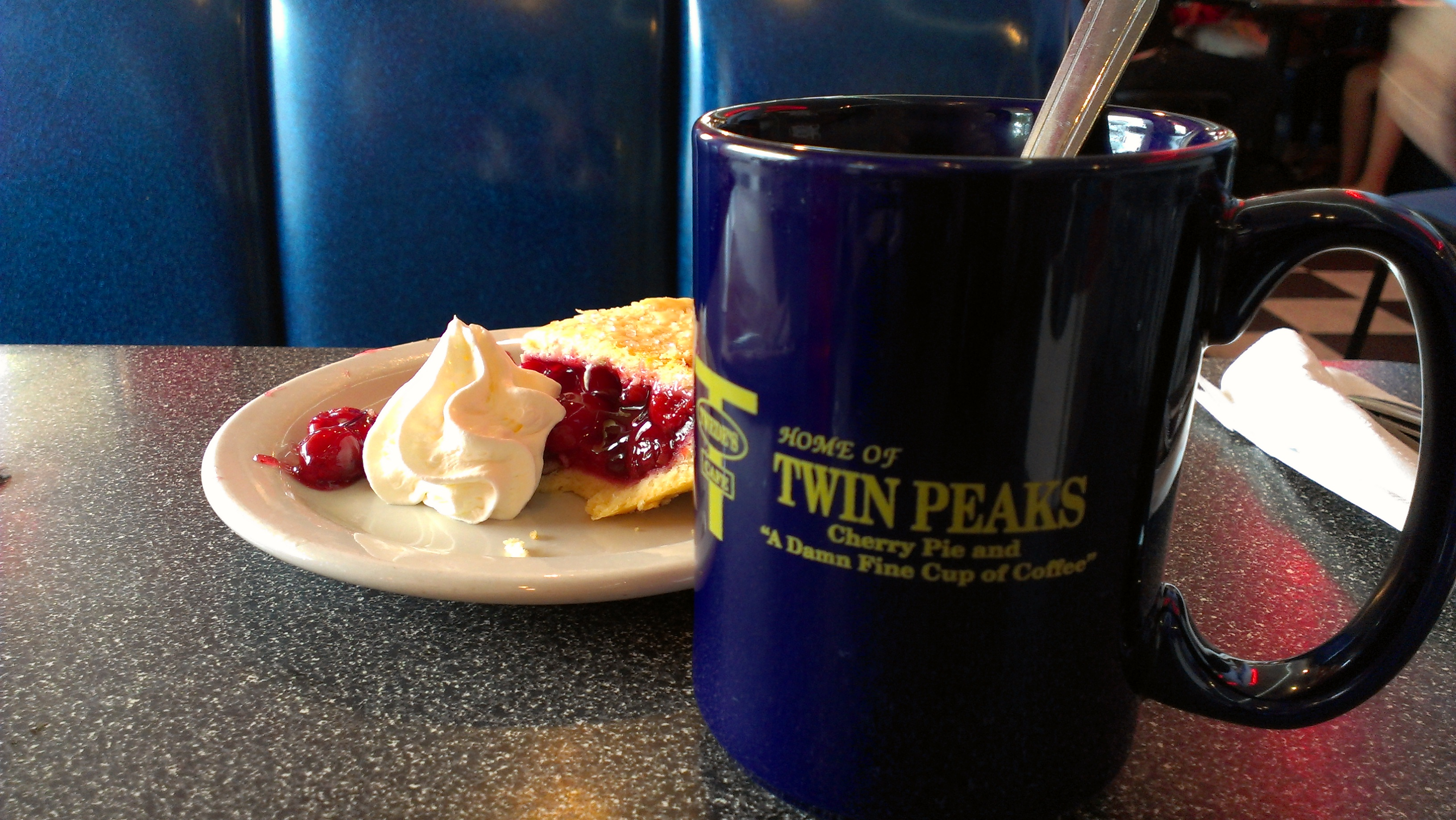 cherry pie and a damn fine cup of coffee | the coffee wasn ...