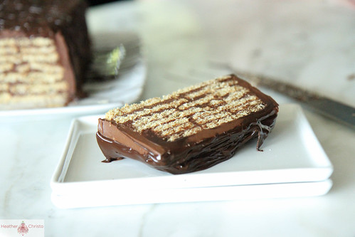 Chocolate Peanut Butter Ice Box Cake