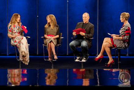 the judges from last night's episode sitting on a stage