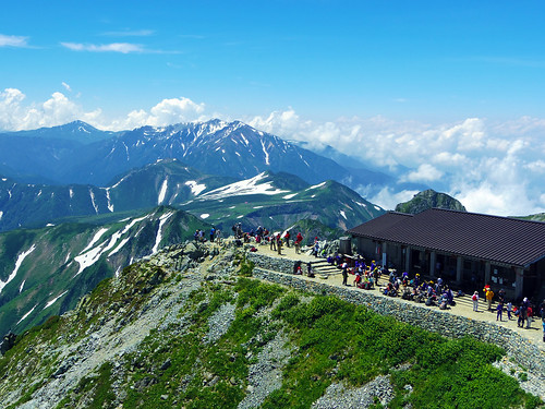 雄山頂上からの風景 (The view from the summit of Tateyama)