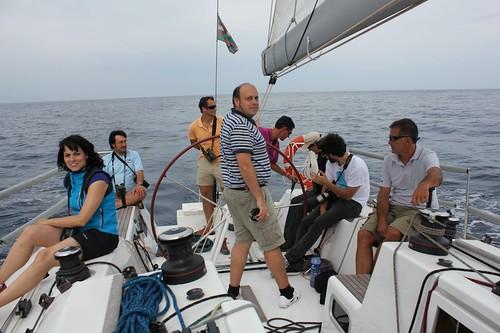 En el barco. Autora: Carmen González