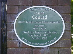 Photo of Joseph Conrad green plaque