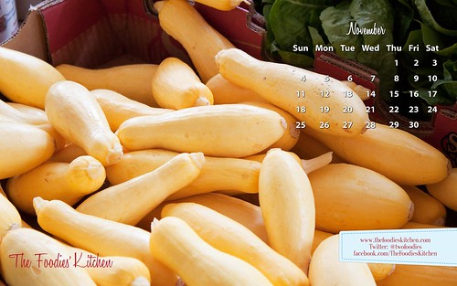 Foodies Freebie: November 2012 Desktop Calendar