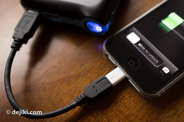 Charging via Micro USB