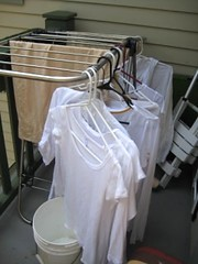 hanging laundry rack