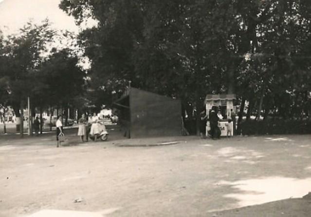 Puestos en el Paseo de Merchán. Cortesía de la familia Torrecillas