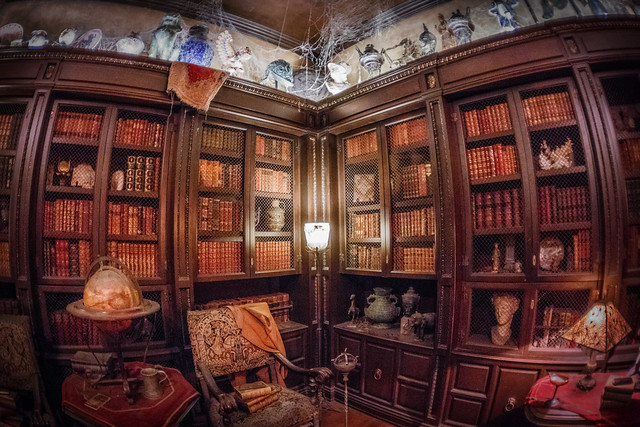 The Hollywood Tower Hotel Library