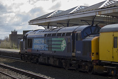 37419 at Kilmarnock working Network Rail Carlisle - Mossend Test Train 3Q15  14/04/14...