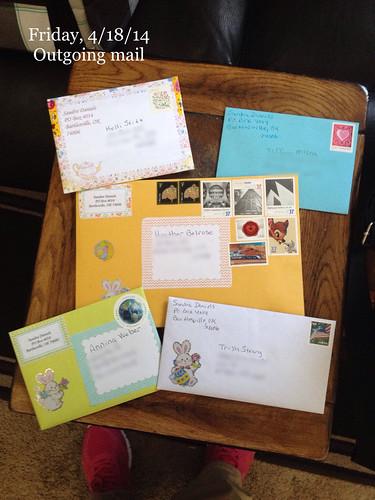 Outgoing letters pen pals