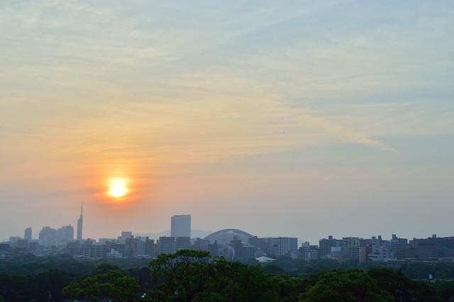 福岡の夕暮れ