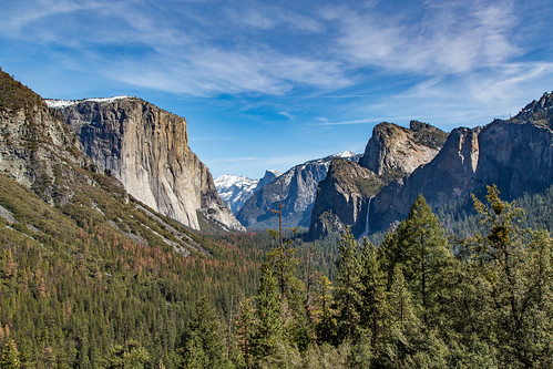 california blue sky snow mountains forest day clear valley granite halfdome yosemitenationalpark elcapitan bridalveilfalls sheer tunnelview 201603164b4a08362hdr2