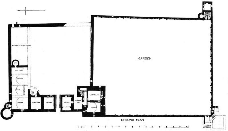 Plano castillo Edzell