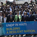 Helen Clark, Heraldo Munoz, top UNDP Haiti directors and staff members