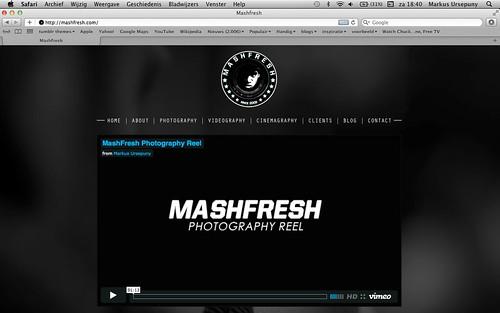 NOW ONLINE: MASHFRESH.COM  by mash-photography