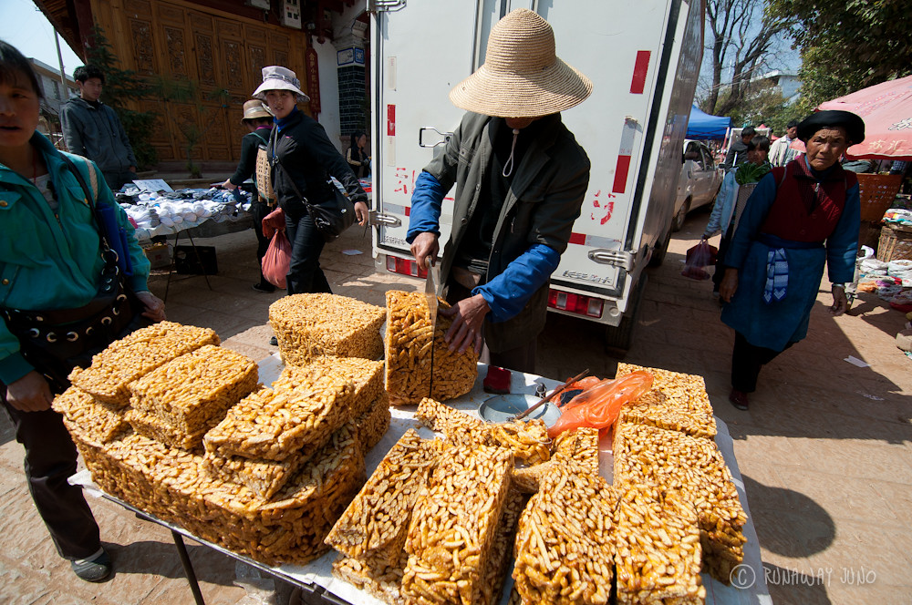 snacks for sale in Shaxi market