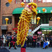 The chinese lion dance of Nankin-machi