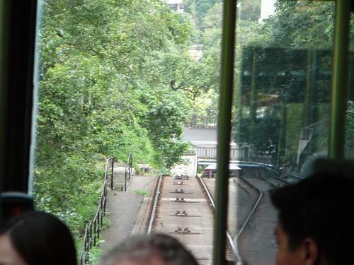 Going down on the peak tram