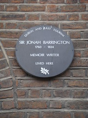 Photo of Jonah Barrington brown plaque