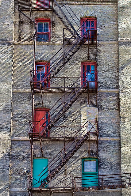 Fire Escape in the Exchange District