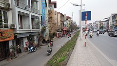 The main road called Au Co, Tây Hồ