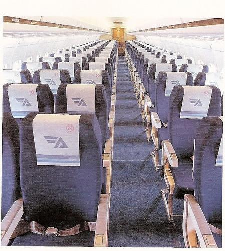 Interior Cabina de Pasaje Douglas DC-9 Aviaco
