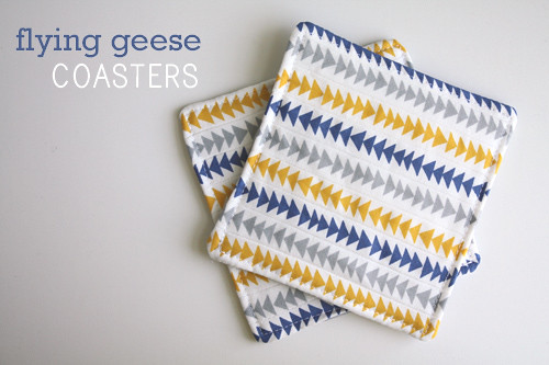 Ellen Baker of The Long Thread: Flying Geese Coasters Tutorial