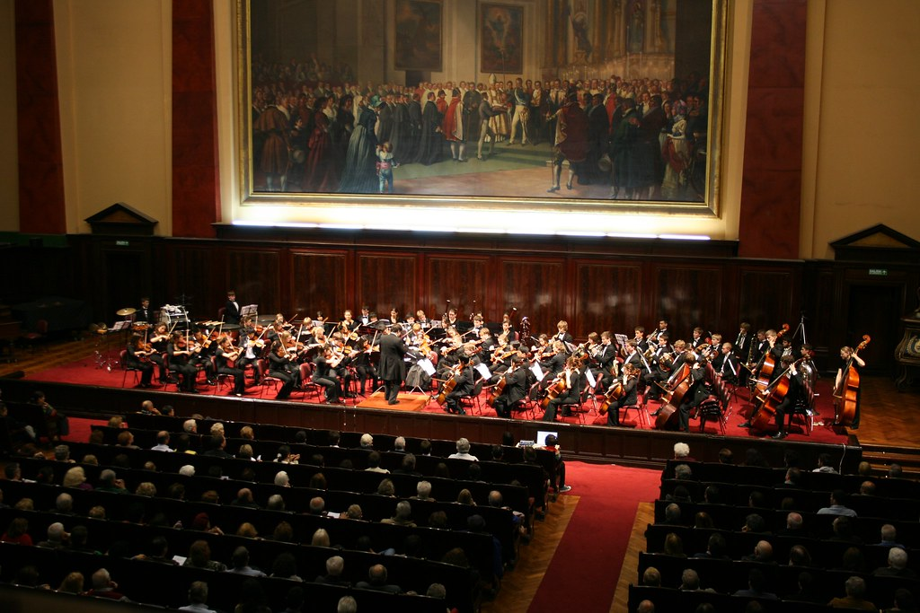 Chicago Youth Symphony Orchestra performs in La Facultad de Derecho in Buenos Aires, Argentina
