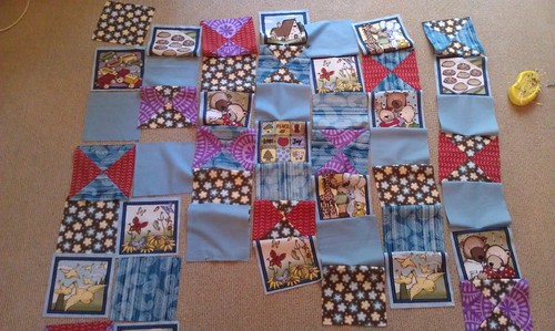 Baby  quilt in pieces