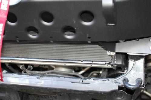 Radiator exposed - filler skid plate needed