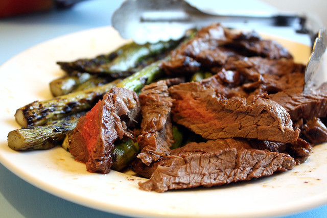 Skirt Steak and Asparagus