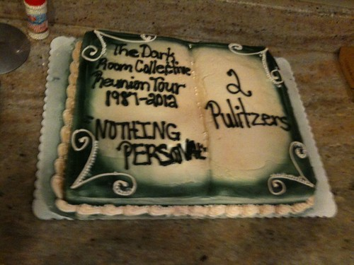 Dark Room Reunion tour cake, in DC
