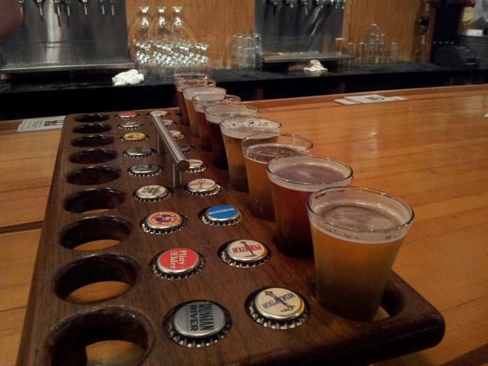 9 flight Belgian sampler