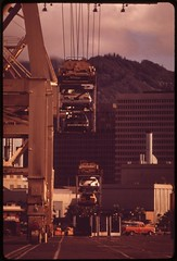 Automobiles, like almost all supplies for the islands, are transported by ship, October 1973
