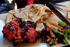 Tandoori chicken (Indian grilled chicken) w/ naan