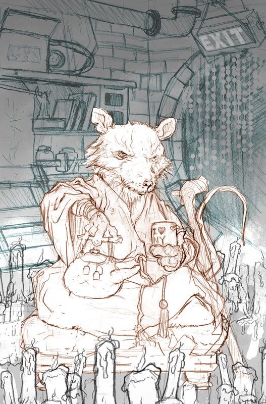 IDW :: Teenage Mutant Ninja Turtles MICRO-SERIES #5; SPLINTER // ..roughs ii by David Peterson  (( 2012 )) by tOkKa
