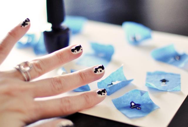 inkblot rorschach nails manicure