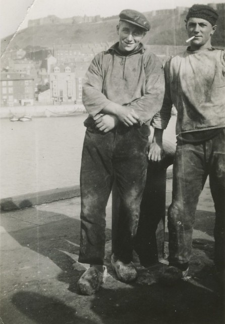 harbour workers wearing clogs