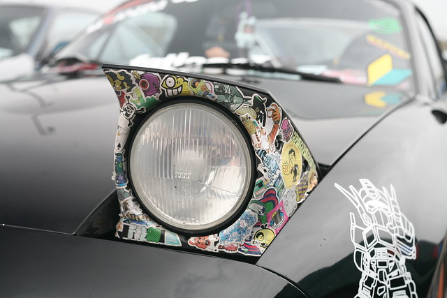 Stickerbombed Mazda Miata