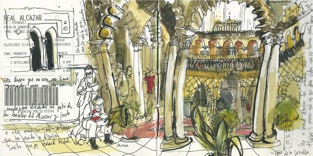 Alcázar de Sevilla. Patio de las Doncellas