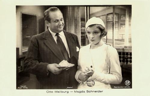 Otto Wallburg, Magda Schneider, Marion