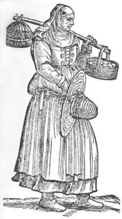Cesare Vecellio: Peasant woman from the Treviso area, 1590 De gli Habiti antichi et moderni di Diverse Parti del Mondo