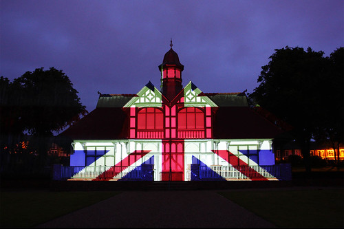 Burslem Park light projections