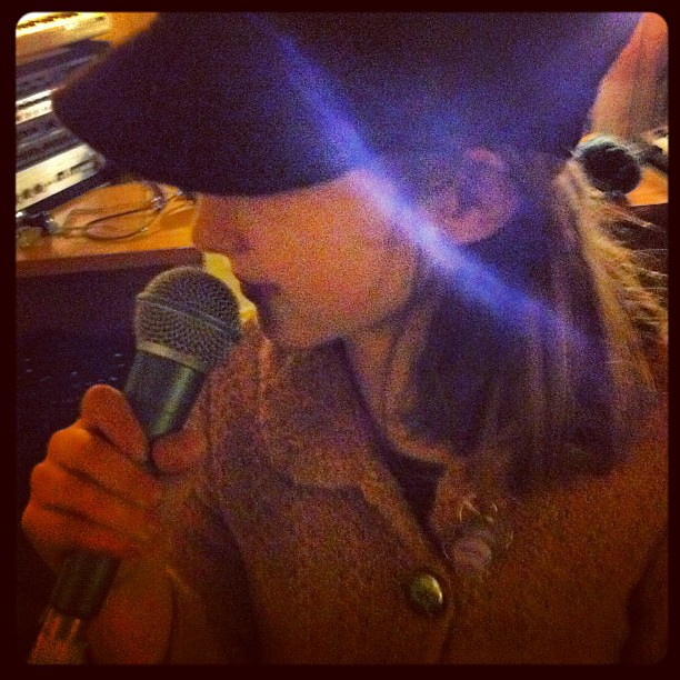 Big Owlet feeling the music #singing #bandpractice